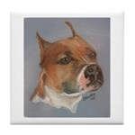 American Staffordshire Terrier Tile (white border)