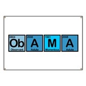 Obama spelled out using invented elements Observant, Astute & Momentous. All describe Barack Obama & his historic presidential campaign for the 2008 election. Support Obama with this fun design.