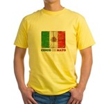 Vintage Cinco De Mayo with Flag Yellow T-Shirt