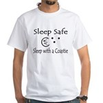 Sleep Safe Sleep with a Coastie White T-Shirt