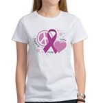 CF Peace Love Cure Women's T-Shirt