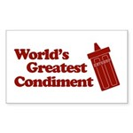 World's Greatest Condiment Rectangle Sticker