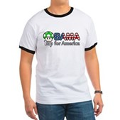 Obama 1up for America Ringer T