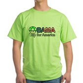 Obama 1up for America Green T-Shirt