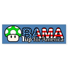 Obama 1up for America Sticker (Bumper)