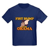Fist Bump for Obama Kids Dark T-Shirt