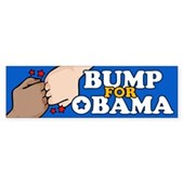 Fist Bump for Obama Bumper Sticker
