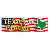 Texas for Obama Bumper Sticker