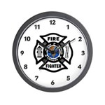 Firefighters Think Green Wall Clock