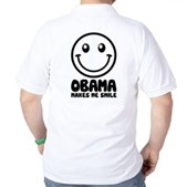 Obama Makes Me Smile Golf Shirt