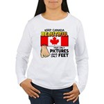 Canada Severed Foot Women's Long Sleeve T-Shirt