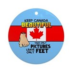 Canada Severed Foot Ornament (Round)
