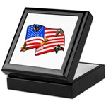 Patriotic USA Earth Keepsake Box