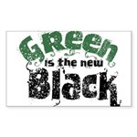 Green is the new Black Rectangle Sticker