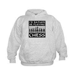 I'd Rather Be Playing Chess Kids Hoodie