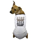 Presidential Firsts: 1789-2009 Dog T-Shirt