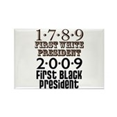 Presidential Firsts: 1789-2009 Rectangle Magnet
