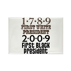 US Firsts: 1789-2009 Rectangle Magnet