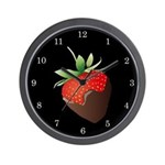Chocolate Strawberry Wall Clock