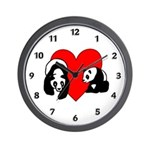 Panda Love Wall Clock