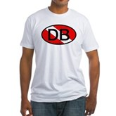 DB Scuba Flag Oval Fitted T-Shirt