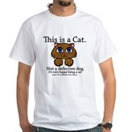 This is a Cat White T-Shirt