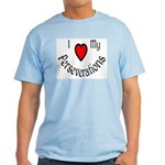 I Heart My Perseverations Light T-Shirt