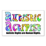 Autistic Activist v1 Sticker (Rectangle)
