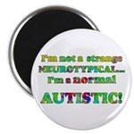 "Normal Autistic 2.25"" Magnet (100 pack)"