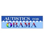 Autistics for Obama Sticker (Bumper 50 pk)