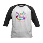 My Autistic Mind Kids Baseball Jersey