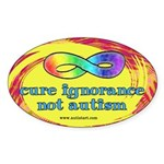 Cure Ignorance Sticker (Oval)
