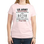 Infantry Sniper Crosshairs Wife Women's Pink T-Shi