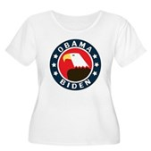 Obama-Biden Eagle Women's Plus Size Scoop Neck T-S