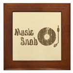 Music Snob Framed Tile