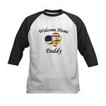 Welcome Home Daddy Patriotic Kids Baseball Jersey