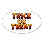 Trick or Treat Sticker (Oval 50 pk)