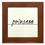 Minimal Princess Costume Framed Tile