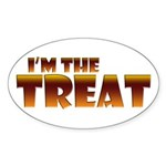 Glowing I'm the Treat Oval Sticker (50 pk)