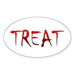 Bloody Treat Oval Sticker (10 pk)
