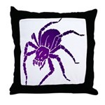 Purple Spider Throw Pillow