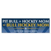 Bull Hockey Mom Bumper Sticker