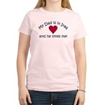 My Dad is in Iraq - heart Women's Pink T-Shirt