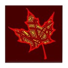 Fire Leaf Tile Coaster
