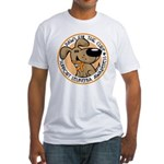 Paws for the Cure: Leukemia Fitted T-Shirt