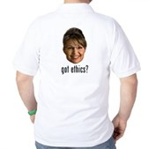 Anti-Palin Got Ethics? Golf Shirt