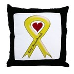 Keep My Sailor Safe Yellow Ribbon Throw Pillow