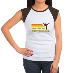 Black Belt in Keepin It Real Women's Cap Sleeve T-Shirt