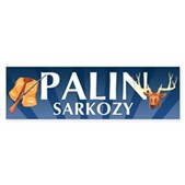 This hilarious Palin - Sarkozy bumper sticker is based on the fake Sarkozy prank call that got Sarah Palin in hot water and high comedy. Kill two birds with one stone with this anti-Palin sticker!