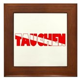 Tauchen German Scuba Flag Framed Tile
